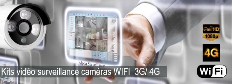 Kit caméras HD de surveillance entreprise magasin commerce