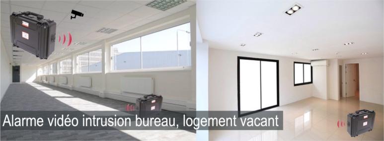 Alarme squatteur logement vacant, bureau vide