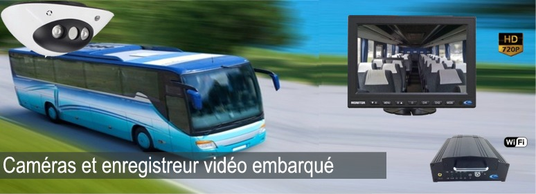 Camera de surveillance embarquée autocar bus